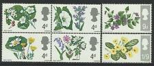 GREAT BRITAIN 1967 FLOWERS Set of 6 values MNH