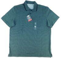 Van Heusen Flex Mens Grey/Black Stripe Short Sleeve Polo Sizes M / XL MSRP $50