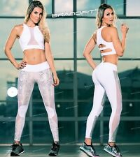 New Woman Luxury Shiny Snake Mesh Work Out Leggings  Pants Fiber Colombian L1
