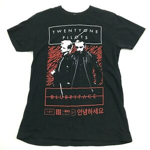 Twenty One Pilots Concert Shirt Size S Black Band Tee Blurry Face Tour National