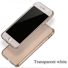 360° Front And Back Slim Clear TPU Gel Cover Case For iPhone 6/6Plus FG