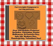 300 Holiday Patterns 4 Sears Craftsman Compucarve Carvewright 50 Bonus Ornaments