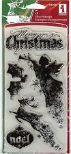 Inkadinkado Acrylic Clear Stamp Set 98398 Christmas Silhouettes, New B2