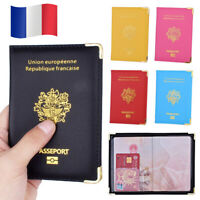 France Eco Leather Passport Holder Francais Travel Cover French ID Document Case