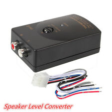 Car Stereo Audio RCA Speaker High To Low Level Line Converter With Adapter Wire