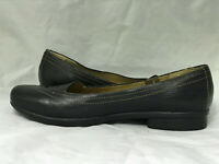 Clarks Artisan Collection Black Leather Shoes Women's US 10 M Slip On Flats
