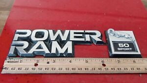 1984-89 DODGE RAM 50 SPORT SIDE FENDER EMBLEM SET