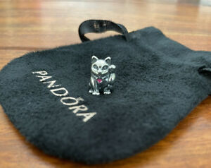 Genuine Pandora Chinese Waving Lucky Cat Charm In Good Condition Retired 925