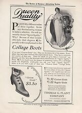 1905 Thomas G Plant Co Boston MA Ad: Custom Grade College Boots Queen Quality