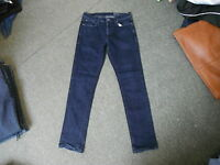 "F&F Slim Jeans Waist 34"" Leg 32"" Faded Dark Blue Mens Jeans"