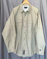 5.11 Tactical Series Style #12157 Men's XL 100% Cotton Beige BF LS Shirt! EUC!
