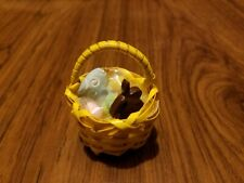 Small Yellow Easter Basket A for Barbie, Monster High Doll Diorama