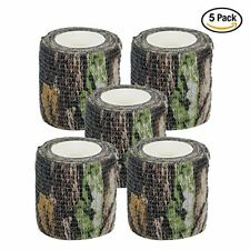 Camouflage Tape For Rifle Gun Wrap Military Camo Stretch Bandage Sniper 5 Rolls
