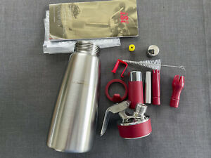 iSi Sahnespender 500ml, Gourmet Whip Plus, 0.5 Liter Edelstahl (Siphon Espuma)