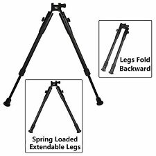 Universal Spring Loaded Extendable Bipod Picatinny Weaver Mount High Profile
