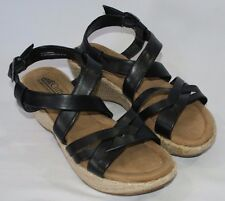 Cliffs By White Mountain Strappy Sandals Shoes Black Womens Size 6.5M