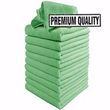 Microfibre Cleaning Cloths, 10 Pack, Green, Microfibre Dusters, Machine Washable