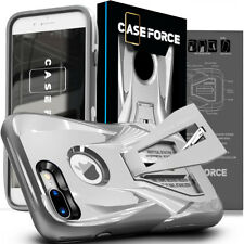 For Apple iPhone 8 7 6 Plus Case Cover Kickstand Tempered Glass Screen Protector