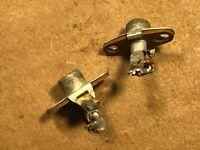 Vintage 1956 pair of RCA Jacks Metal base for Tube Amplifier Heathkit Amp (Qty)