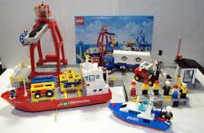 LEGO Town 6542 Launch Load Seaport City Harbor 1991 Cargo ship crane COMPLETE