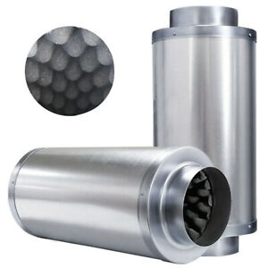"""Acoustic Insulated Inline Duct Fan Silencer Hydroponics 4"""" 6"""" 8"""" 10"""" 12"""""""