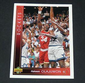 HAKEEM OLAJUWON HOUSTON ROCKETS 1993-1994 NBA BASKETBALL UPPER DECK CARD