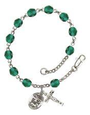 December Birth Month Bead Rosary Bracelet with Archangel St Michael Petite Charm
