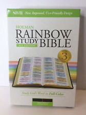 Holman Rainbow Study Bible NIV Edition Saddle Brown Leather Touch Cover Like New