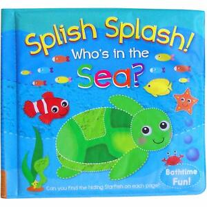 Baby Bath Book Bath time - SPLISH SPLASH WHO'S IN THE SEA? Educational UK PP!