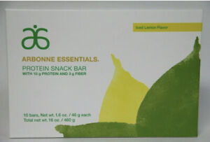 3x Arbonne Essentials - Protein Snack Bars (Box of 10) - Iced Lemon Total 30 Bar