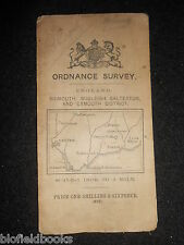 "VINTAGE ORDNANCE SURVEY 1"" MAP of Sidmouth, Exmouth District - 1912 - Devon"