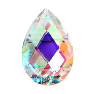 Water Drop Crystal Glass Faceted Prism Hanging DIY Pendant Chandiler Suncatcher