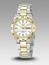 Seiko 5 Ladies SYMG42K1 Two Toned Stainless White Dial Automatic Watch