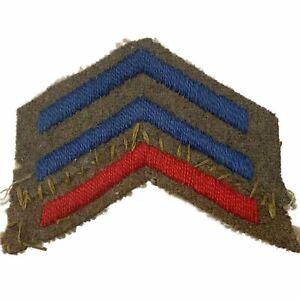 Original WW1 British Army 2 Years Blue Overseas Service Stripes Chevrons Badge