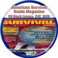 65 American Survival Guide Magazine How to Prepare Food  Weapons Gear PDF DVD