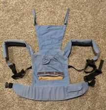 Vintage Ergo Baby Carrier Blue And Tan with Front Pocket