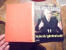 Jean Collombey QUI VOUS SAVEZ Caricature sur Photo Politiques Général de Gaule