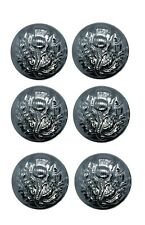 Button Thistle Chrome 25mm Large Sold Pack of 6 R820