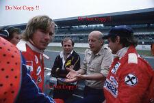 James Hunt & Niki Lauda F1 retrato alemán Grand Prix 1977 fotografía