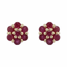 Natural Ruby Not Enhanced Yellow Gold Fine Earrings