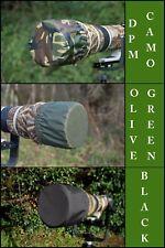 Parasol Impermeable Tapa De Extremo Para Canon 500 mm F4, 3 Color Elección Camouflaged