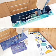 PVC Leather Modern Floor Mat Marble Kitchen Long Waterproof Non-slip Fatigue Mat