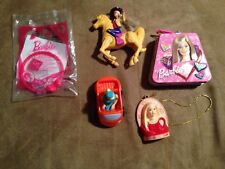 5 McDonalds Barbie Toys - Cowgirl, Toy Story 2, Bracelet, Candy Box, Ornaments