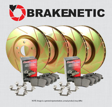 CERAMIC PADS 57170PK FRONT POWER CROSS DRILLED SLOTTED PLATED BRAKE ROTORS
