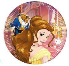 Beauty and the Beast vajilla fiesta desechable Cumpleaños suministros Procos 20.3x22.9cm platos de papel (pr7032164b)