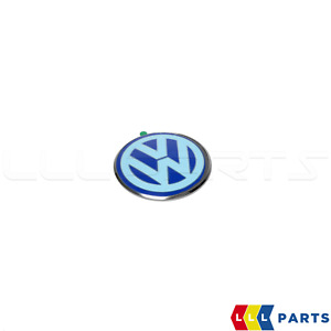 NEW GENUINE VOLKSWAGEN NEW BEETLE TRUNK BOOT LID EMBLEM BADGE WHITE AND BLUE