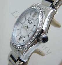 ROTARY Ladies Watch DIAMOND dial Watch Stainless Steel mother of Pearl RRP £170