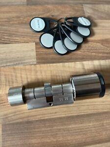 Elektronischer Schließzylinder, Profilzylinder  U+Z mit 3 Chip
