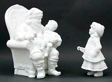VISIT WITH SANTA #78417  WINTER SILHOUETTE  DEPT 56  SANTA IN CHAIR AND A GIRL
