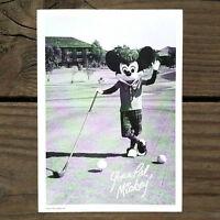 Vintage Original WALT DISNEY WORLD MICKEY MOUSE Welcome Card 1977 Golfing